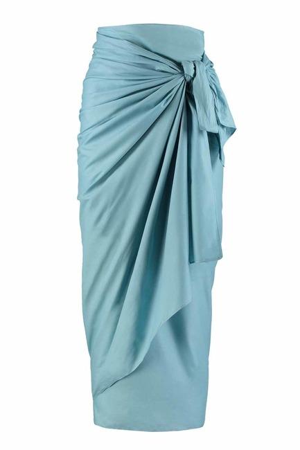 MIZALLE ملابس الشاطئ في الفوال اللون (الأزرق)