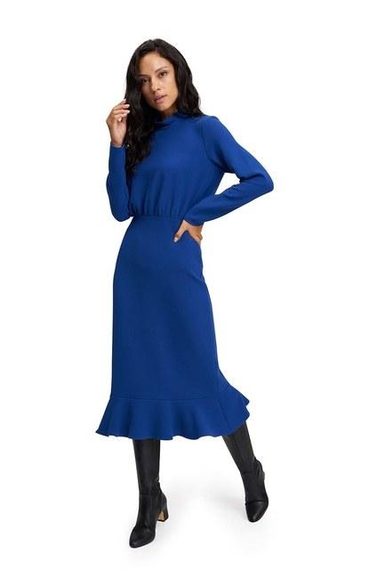 MIZALLE فستان ذات خصر مُتعرج (ساكس)