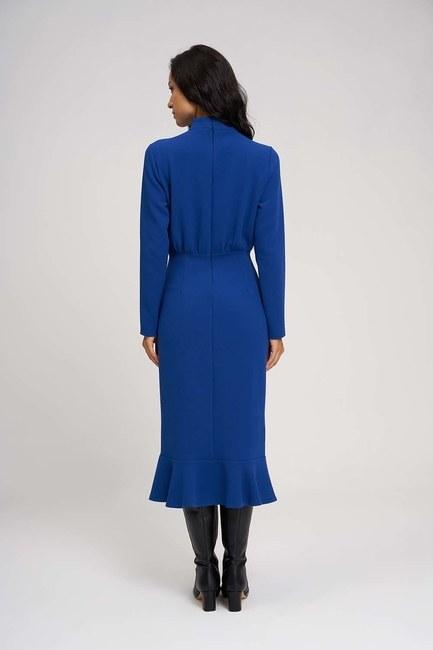 فستان ذات خصر مُتعرج (ساكس) - Thumbnail