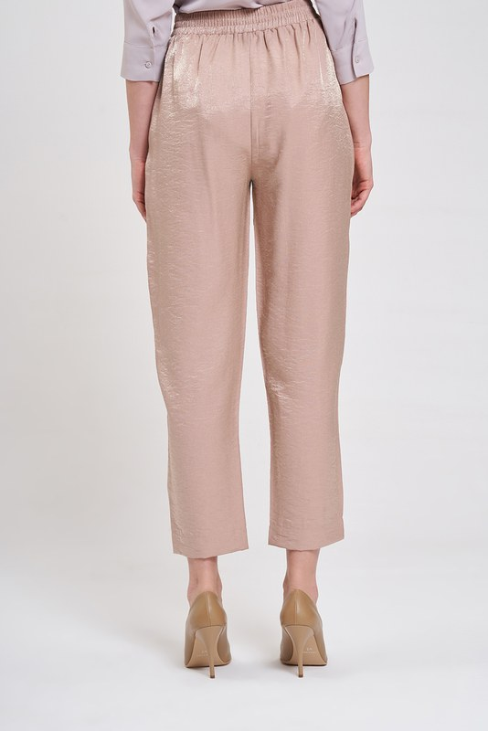 Waist-Pleated Trousers (Powder)