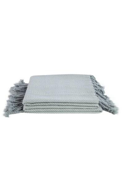 MIZALLE HOME شال مقعد أخضر مائي (130 × 170)