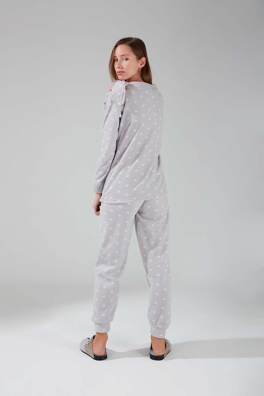 Wellsoft Polar Pijama Takımı (Gri)