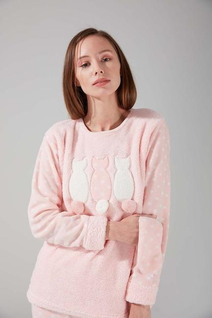 Wellsoft Polar Pijama Takımı (Pembe) - Thumbnail