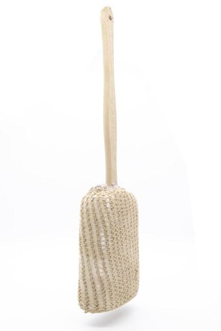 MIZALLE HOME - الحقيبة الاستحمام مع مقبض خشبي (المنك) (1)