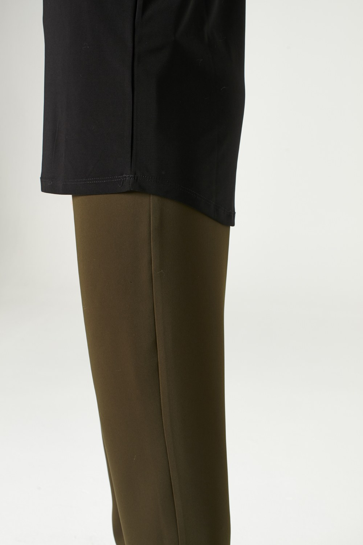 MIZALLE Yakası Büzgülü Bluz (Siyah) (1)