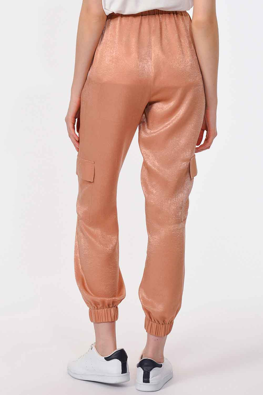 Yan Cepli Premium Pantolon (Bej)