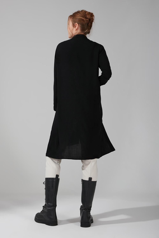 Yan Düğmeli Tunik (Siyah)