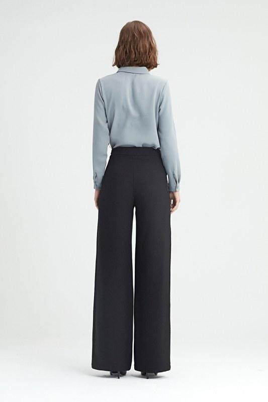 Yan Şeritli Pantolon (Siyah)