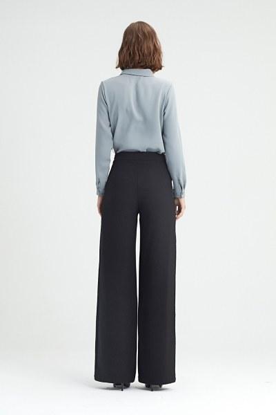 Yan Şeritli Pantolon (Siyah) - Thumbnail