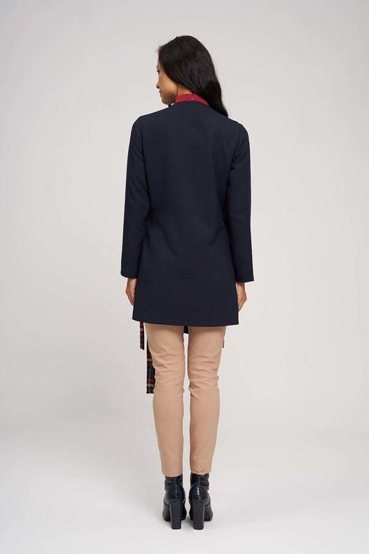 Yandan Bağlamalı Kimono (Koyu Lacivert)