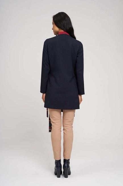 Yandan Bağlamalı Kimono (Koyu Lacivert) - Thumbnail