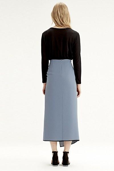Side-Belted Skirt (Indigo) - Thumbnail