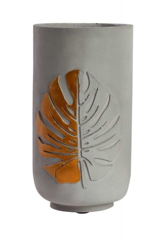 Ceramic Vase With Leaf Pattern (15X14,5X25,5)