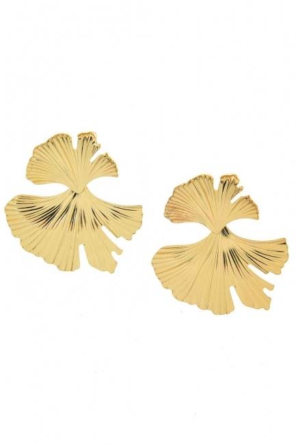 Leaf Design Earrings (St) - Thumbnail