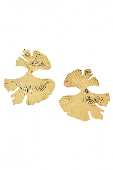 MIZALLE - Leaf Design Earrings (St) (1)