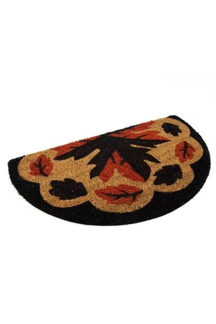 MIZALLE HOME - Half Moon Doormat (Leaf) (1)
