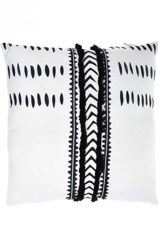 Pillow Case (White/Navy Blue)