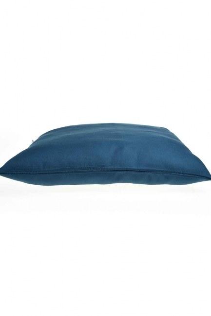 MIZALLE - غطاء المخدة (الأزرق الداكن) (1)