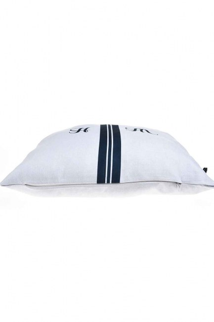 MIZALLE - Pillow Case (Navy Blue Stripe) (1)