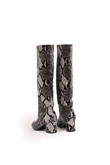 حذاء بنمط ثعبان (أسود) - Thumbnail