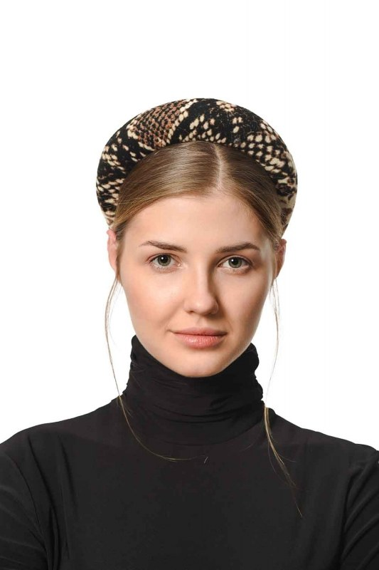 Snake Patterned Hair Crown (Brown)