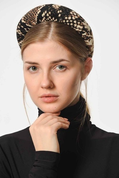 Snake Patterned Hair Crown (Brown) - Thumbnail
