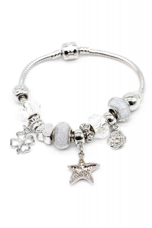 Star Shaped Bracelet (White)