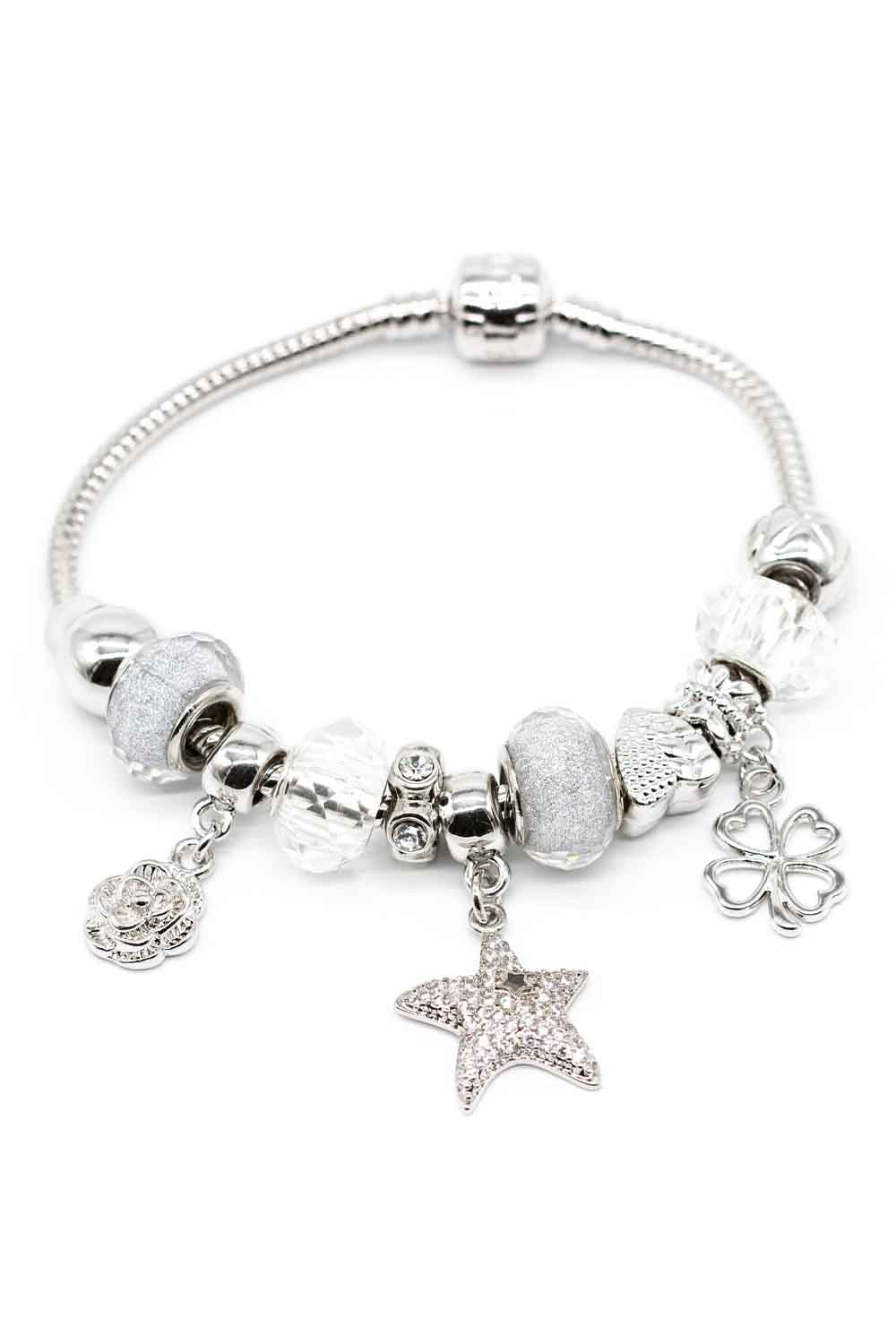 MIZALLE Star Shaped Bracelet (White) (1)