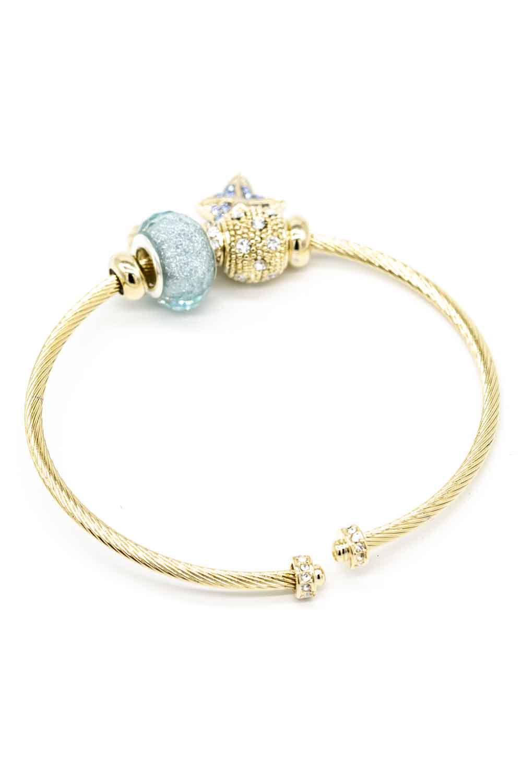 MIZALLE Yıldız Temalı Bileklik (Mavi) (1)