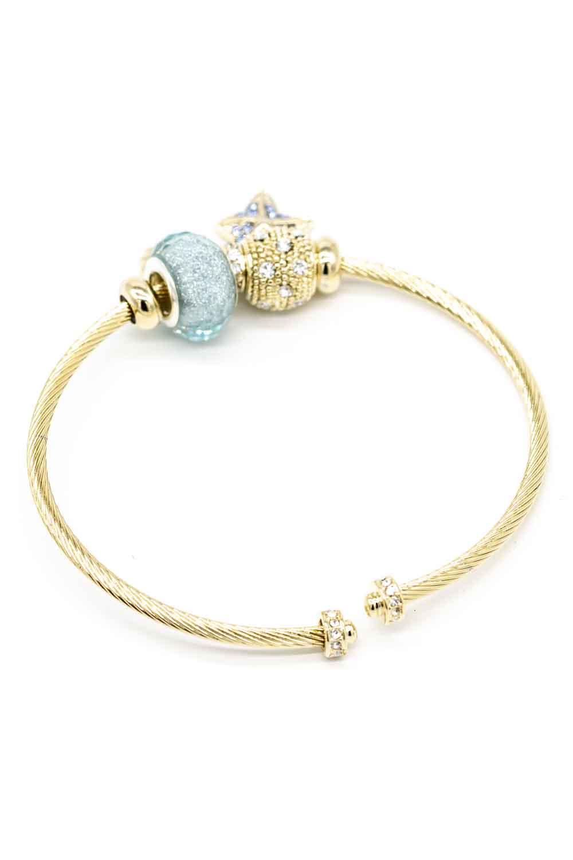 MIZALLE Star Themed Bracelet (Blue) (1)