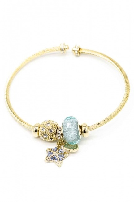 MIZALLE - Star Themed Bracelet (Blue) (1)