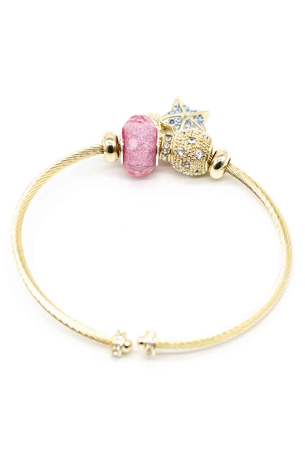MIZALLE Star Themed Bracelet (Pink) (1)