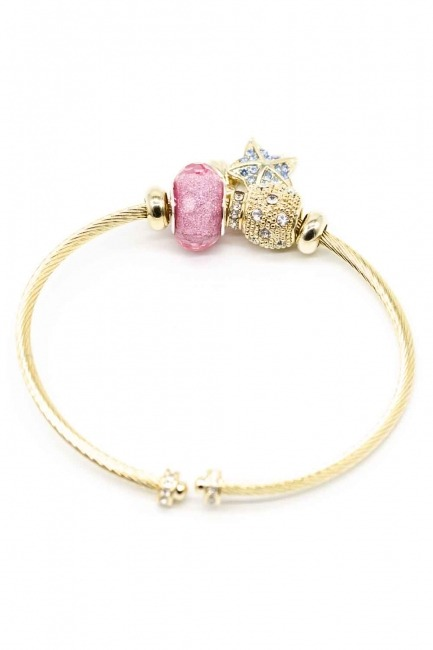 MIZALLE - Star Themed Bracelet (Pink) (1)