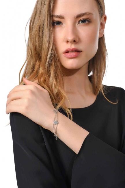 Starry Steel Bracelet (Silver) - Thumbnail