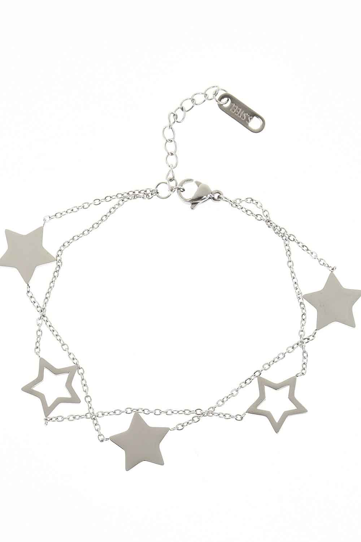 MIZALLE Starry Steel Bracelet (Silver) (1)