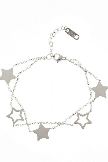 MIZALLE - Starry Steel Bracelet (Silver) (1)