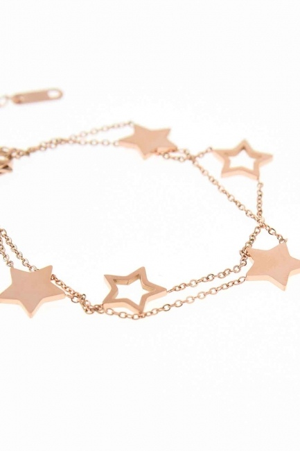 MIZALLE - Starry Steel Bracelet (Rose) (1)