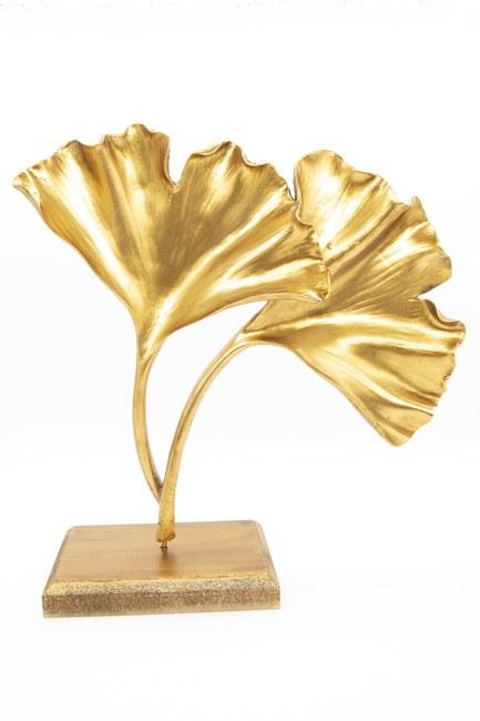 MIZALLE HOME - Yonca Dekoratif Obje (Altın) (1)