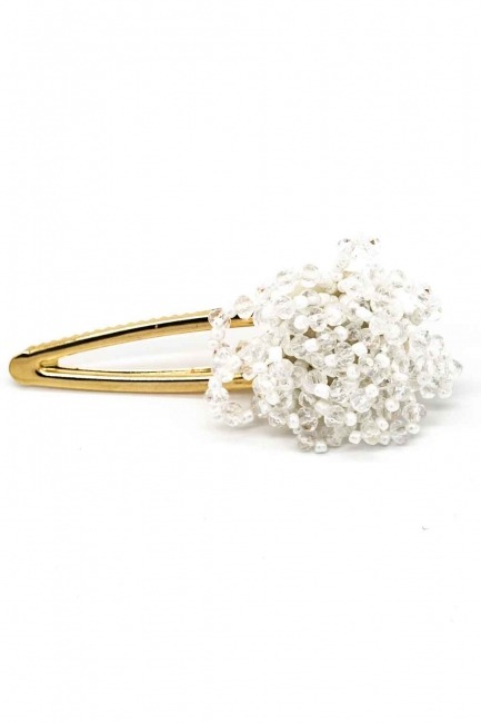 Clover Detailed Hair Clips (White) - Thumbnail