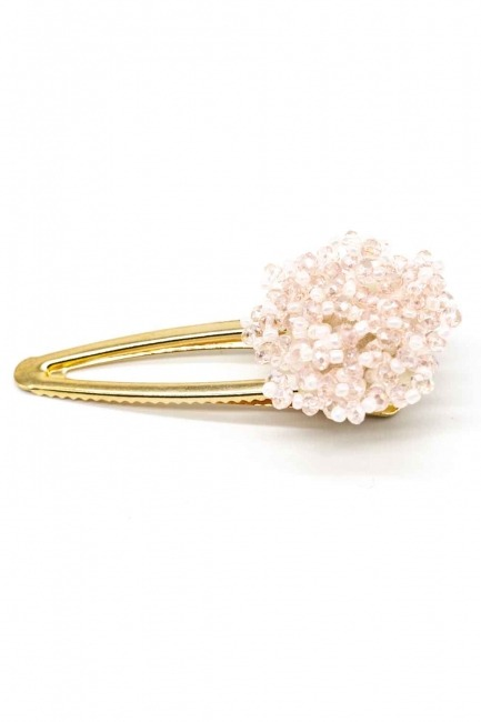 MIZALLE Clover Detailed Hair Clips (Pink)