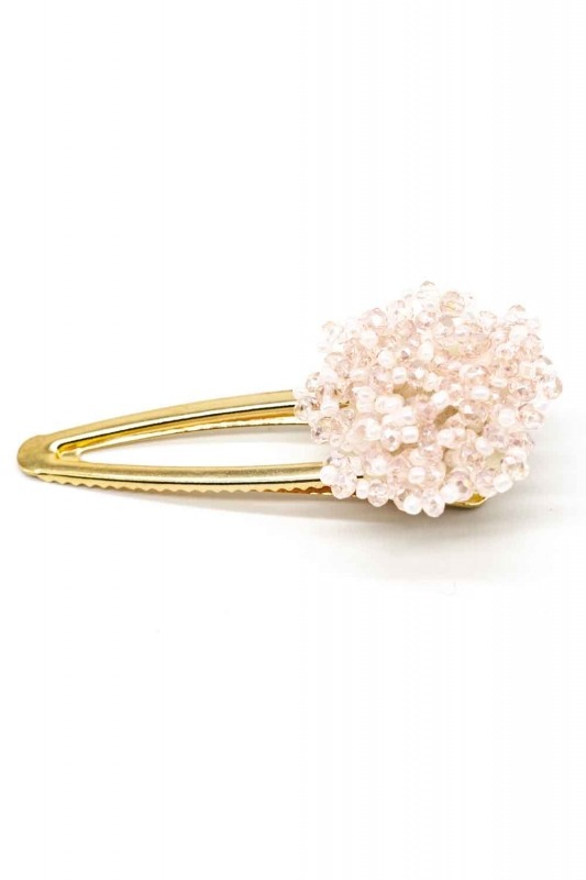 Clover Detailed Hair Clips (Pink)