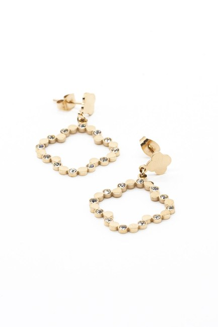 MIZALLE - Clover Earrings (Yellow) (1)