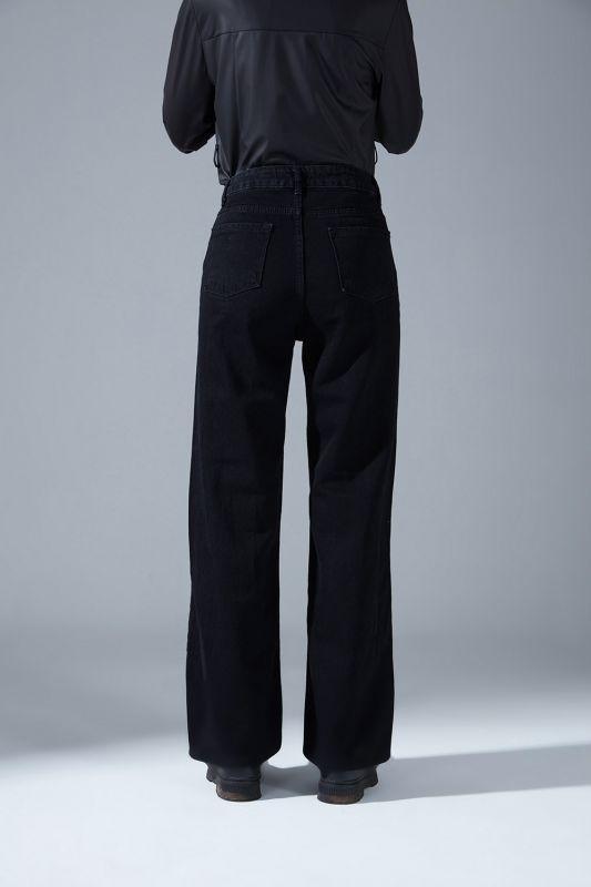 Yüksek Bel Mom Denim Pantolon (Siyah)