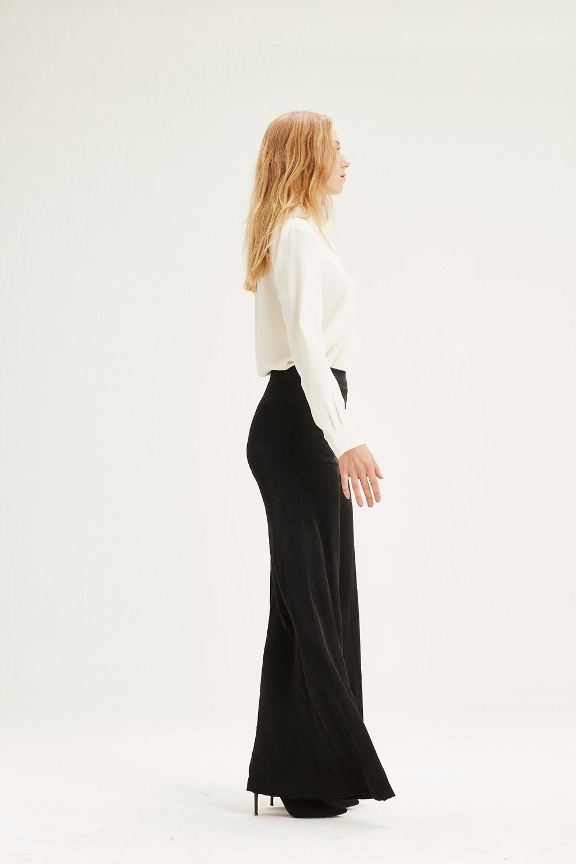 Yüksek Bel Pantolon (Siyah)