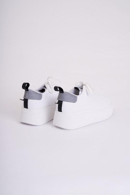 Yüksek Tabanlı Spor Ayakkabı (Beyaz)