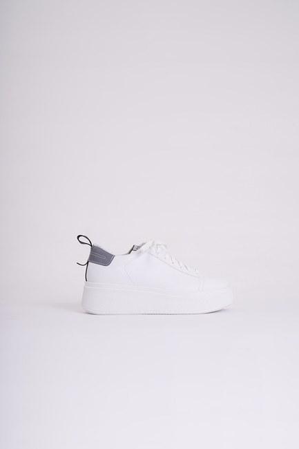 MIZALLE - Yüksek Tabanlı Spor Ayakkabı (Beyaz) (1)