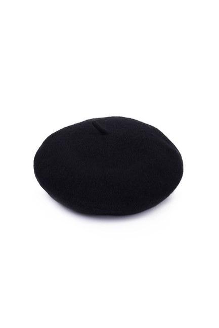 Mizalle - Woolly Beanie (Black) (1)