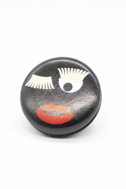 Yuvarlak Cep Makyaj Aynası (Siyah) - Thumbnail