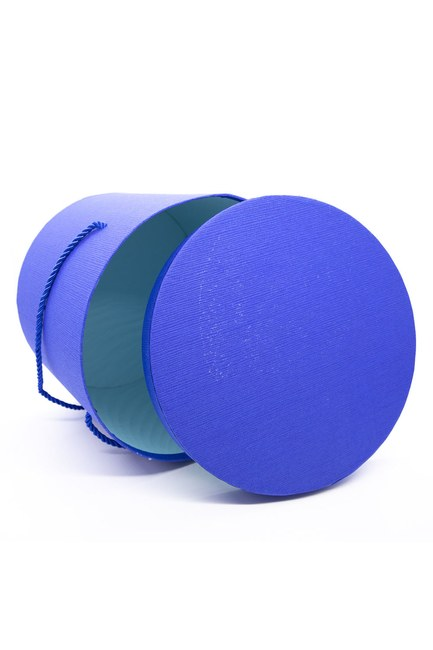 MIZALLE HOME - Blue Round Box (19X19) (1)