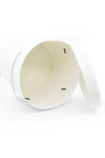 MIZALLE HOME - Beyaz Yuvarlak İpli Kutu (22X22) (1)